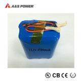 bloco 11.1V 18650 recarregáveis da bateria do Li-íon do lítio de 12V 4500mAh