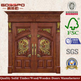 Portelli di legno solidi della doppia entrata di stile cinese (GSP1-020)