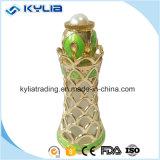 Seule bouteille de parfum en métal de l'arabe 20ml avec le bâton de diamant et en verre (MPB-26)