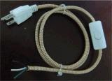 Het Koord van de macht voor Kabel met de Stop van de V.S. van de Houder van de Lamp van de Schakelaar