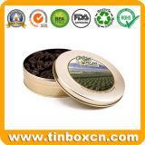 Il cioccolato rotondo dello stagno può per il contenitore di alimento, contenitore di stagno del cioccolato