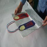Plegable crear la bolsa de papel para requisitos particulares de las compras con precio de fábrica
