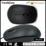 Grande mouse ottico più poco costoso collegato USB dei tasti del nero 3 di formato