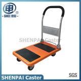 Aço capacidade 300kg carrinho de mão de plataforma com rodas de PU