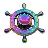 多彩な亜鉛合金の虹の落着きのなさの紡績工は手の紡績工をもてあそぶ
