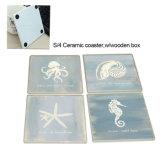Promocional Classic Coaster Ceramic S / 4, Holder Coaster Square