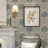 Grand papier peint de projet d'hôtel de luxe de modèle de fleur de type italien pour la décoration de mur