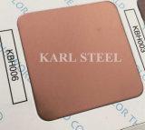 410 Blatt des Edelstahl-silbernes Farben-HaarstrichKbh004