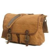 Heavy Canvas Messenger Homem Bag tecido lavados Saco de ombro com lona (RS-2111)