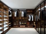 나무로 되는 옷장 옷장 침실에 있는 유리제 문 도보