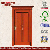 Estilo Europeo rojos alegres de madera al por mayor de la puerta (GSP2-025)
