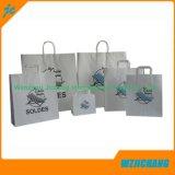 Llanura ecológica el papel de estraza Shopping Bag bolsa de regalo Papel Papel personalizable