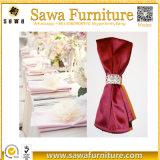 Heißer Verkauf 45*45cm erröten Hochzeits-Dekoration-Polyester-Tisch-Serviette