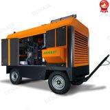 Compresor de aire portable a diesel de 100 Cfm para la explotación minera