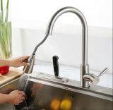 Почищенный щеткой никель PVD вытягивает вне кран кухни