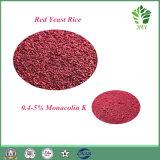 100% pur naturel 0,2% ~ 5% Riz à levure rouge Monacolin K