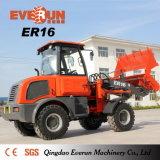 Циндао Everun Er16 строительная техника мини-колесный погрузчик для продажи