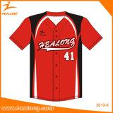 Équipe de jeunes de sublimation Healong Sportswear Baseball Jerseys chemises d'usure