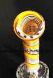 Conduite d'eau en verre de couleur en gros de deux fonctions avec 18.8mm