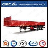 Hot Cimc Huajun 3el eje de carga y remolque de cerco con la pared lateral