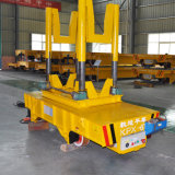 De Kar van de Overdracht van de Gietlepel van de zware Lading die in Industrie van het Metaal op Sporen wordt gebruikt
