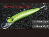 Attrait dur de pêche (vairon 125 de magicien 150mm flottant)