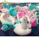 Wasser-Spielzeug-Luft-aufblasbarer bunter Pegasus-Einhorn-Schwan-Pool-Gleitbetrieb