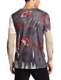 عالة رجال كم طويلة جميعا على تصميد طباعة [ت] قميص