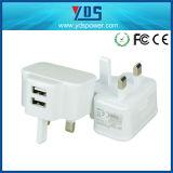 carregador do telefone do carregador da parede do USB de 5V 2A USA/Canada com Ce/FCC/RoHS