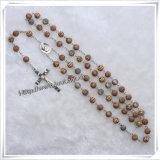 Religioso Lastst Red Special Glass Beads Rosario per pregare (IO-cr063)