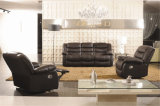 居間の本革のソファー(C874)