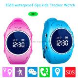 Ios/het Androïde GPS van de Jonge geitjes/van het Kind van de Pedometer Waterdichte Horloge van de Drijver voor Gift D11