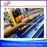 Máquina de chanfradura da estaca redonda precisa profissional do plasma do CNC Oxy da tubulação para a estrutura do fardo da tubulação