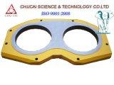 Putzmeister piezas de la bomba de hormigón Placa de desgaste, la placa de gafas