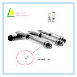 Doppelloch-keramischer Ringe Cbd Öl Pyrex Glas-Zerstäuber für Vape Feder