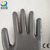 Нитрил раковины полиэфира покрыл перчатки сада работы безопасности (N6088)