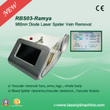 Васкулярный лазер диода машины 980nm удаления Rbs-03