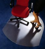 사무실 유리제 의자 매트