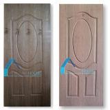 Piel de madera blanca del panel de la puerta de la madera contrachapada de la chapa de Oak/EV Sapelli