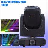 LED de alta potencia Gobo moviendo la cabeza luz 150W