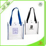 Sacchetto di Tote libero della spiaggia del PVC dei sacchetti di Tote con il sacchetto nero della maniglia della tessitura