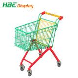 Verbrauchergrossmarkt-Supermarkt-Kleiner-Einkaufen-Laufkatze mit Spielzeug-Auto