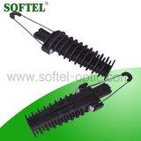 Pinza de tensión de fibra óptica de aislamiento para cable ADSS