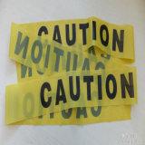 방벽 테이프 또는 탐지가능한 경고 테이프 또는 주의 안전 테이프