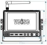 Cámara de vídeo con los sistemas sin hilos de la cámara del monitor para el vehículo de la maquinaria agrícola de la granja, ganado, alimentador, cosechadora
