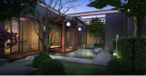 Réverbère solaire de la garantie DEL de 3 ans pour le grand dos de jardin