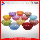 Ciotola di insalata di vetro poco costosa libera o colorata all'ingrosso della caramella
