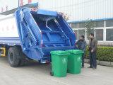 Carro de basura trasero de la compresión del cargamento 12-18m3 de HOWO para la colección de basura