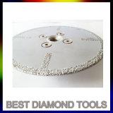 Il doppio ha parteggiato disco di taglio del diamante brasato vuoto