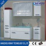 Шкаф стены ванной комнаты PVC новой конструкции водоустойчивый с стеклянным тазиком